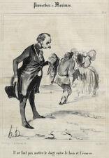 Honore Daumier France 1808 -1879  Lithograph Proverbes et Maximes No 16