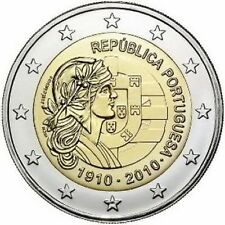 Portogallo 2010  2 €  Repubblica   FDC in oblò e posta prioritaria