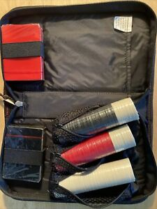 Zip Up Case With Poker Chips & Card ~ New