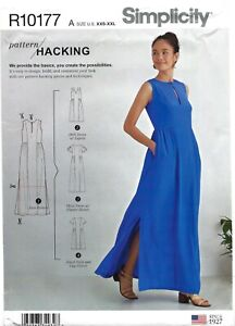Simplicity R10177 Design Your Own High Waist Dress w POCKETS! Sz XXS-XXL S888