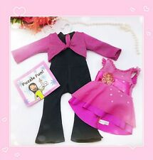 American Girl DOLL RETIRED 2-in-1 Ice Skating Outfit PINK DRESS AND UNITARD 2005