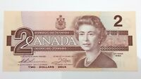 1986 Canada 2 Two Dollar AUY Prefix Canadian Uncirculated Banknote E947