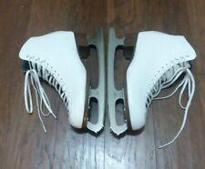 Riedell Women's Model 121 White Figure Skates Ice Skates Sapphire Blades Sz 9