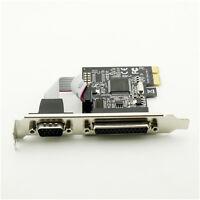 PCI-E PCI Express Parallel LPT Serial Port Card DB25 DB9 RS232 LPT Port Adapter