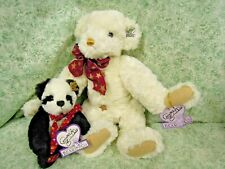 """ns-351 Annette Funicello collectible plush Bears: (2) 13"""" musical, 7"""""""