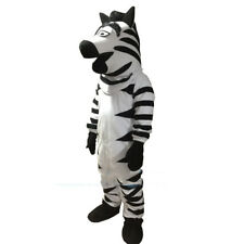 XMAS Zebra Mascot Costume Horse Cartoon Animal Party Cosplay Dress Adult Outfit