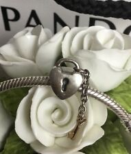 PANDORA TWO TONE 14ct GOLD & S/S 'KEY TO MY HEART' CHARM #790288