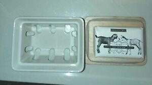 Beekman 1802 Ceramic Soap Dish w/ 3.5 oz Pure Goat Milk Soap Bar *BRAND NEW*