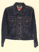 Ladies River Island Denim Jacket Size L Blue Indigo