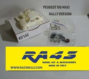 1/43 Peugeot 106 Maxi Rally version Kit