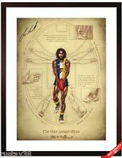 NIC NAITANUI WEST COAST EAGLES HAND SIGNED NAITANUIAN MAN LIMITED FRAMED PRINT
