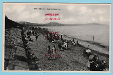 The Beach, Old Colwyn. Published by W.Davies, Old Colwyn