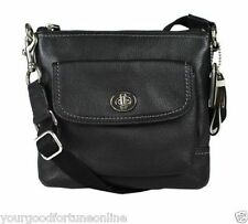 NWT Coach  Leather Pocket Black Pebble Park Cross body Swingpack Shoulder 49170
