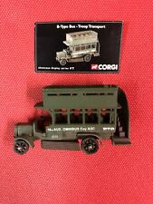 CORGI 1/72 WWI BRITISH ARMY TROOP CARRIER OLD BILL B TYPE BUS UB Vintage Model