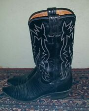 Justin Genuine Lizard Cowboy Western  Boots 7 AA Hand Lasted   Style V 1554