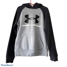 Under Armour Gray/Black Hoodie Youth Small (7)