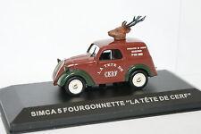 Ixo Carrera 1/43 - Simca 5 Furgoneta El jefe de Ciervo