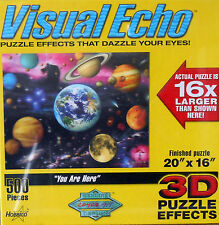 """PUZZLE - JIGSAW VISUAL ECHO """"YOU ARE HERE"""" PLANETS, SPACE, MOONS 500 PC. - NIP!"""