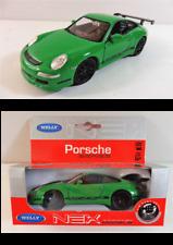 Porsche 911 GT3 RS Vert 1/34 Welly Métal Neuf Boite d'origine