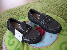 NATURINO BALLERINAS Schuhe Slippers MOKASSIN LACK LEDER Gr. 29 grau STRASS NEU!!