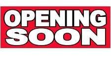 Opening Soon Vinyl Banner Sign 2x6 ft - rb