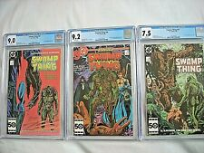 DC SWAMP THING #45 CGC 9.0 VF/NM #46 9.2 NM- #47 7.5 VF- White Pages Alan Moore