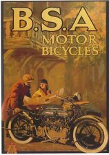 BSA 1920s Advert Modern colour postcard by Robert Opie