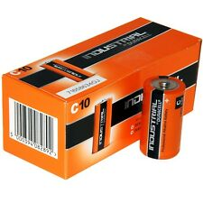 Box of 10 Duracell Industrial Alkaline Batteries C Type LR14