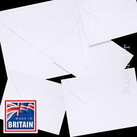 50 x White 130 x 130mm Square 5 inch Envelopes 100gsm