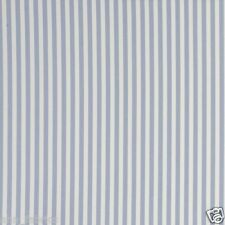 CLARKE and CLARKE 100% COTTON CURTAIN FABRIC/CRAFT PARTY STRIPE Chambray p/m