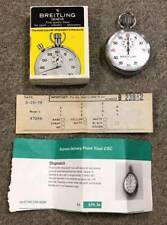 Vintage Breitling Geneve 1/5 Stop Watch w/Box and Papers, Switzerland, NR