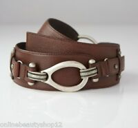 OPIKA Ladies 100% Genuine/Real Leather Waist Belt , Choose Shade Black/Brown