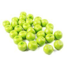 30Pcs Fake Green Mini Apples Plastic Artificial Fruit House Party Kitchen Hot!