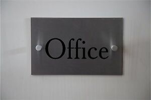 Modern OFFICE sign **Aluminum & Acrylic sign** Indoor or Outdoor sign