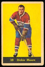 1960 61 PARKHURST HOCKEY #38 DICKIE MOORE VG-EX MONTREAL CANADIENS CARD
