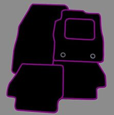 FORD FIESTA MK7 2009-2011 TAILORED CAR FLOOR MATS- BLACK WITH PURPLE TRIM