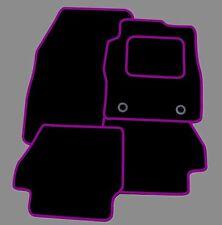 KIA Picanto 2010-2011 A MEDIDA TAPETES COCHE-negro con ribete púrpura