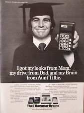 6/1973 pub the bowmar brains calculator personal calculator original ad
