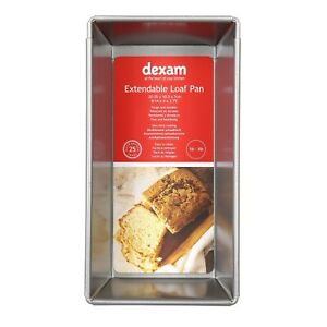 Dexam Non-Stick Expandable Loaf Pan, 20 to 35 x 10.5cm