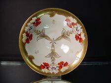 "Pickard China Hand Painted Art Deco Pansy Design 8""D Pedestal Bowl Emil Fischer"