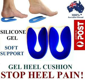 Silicone Gel Heel Pain Relief Support Cushion Spur Pad Insert Insole Feet Foot
