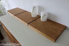 3xWandboard Eiche Massiv Holz Board Regal Steckboard Regalbrett NEU auch auf Maß