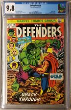 Defenders #10 cgc 9.8  White Pages Hulk vs Thor