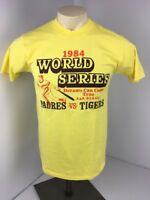 VTG 80s 1984 Padres Tigers World Series Single Stitch Yellow NWOT T-Shirt Sz M