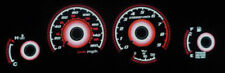 Red Glow Non-Turbo Gauge Face Overlay Set Z32 Z JDM For 1992-1996 Nissan 300ZX