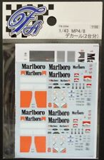 DECALS F'ARTEFICE FM-0094 1/43 MCLAREN MP4/8 TOBACCO CONVERSION (2 CARS)