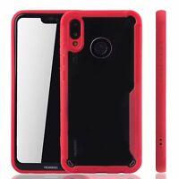 Huawei P20 Lite Hybrid-Editon Custodia Cellulare Protezione Cover Astuccio Rosso