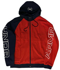 NEW UNDER ARMOUR HIGH MOBILITY TRAINING JACKET RED WHITE BLUE LOOSE FIT L