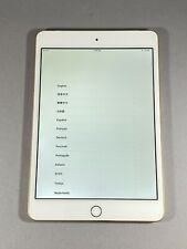 "Apple iPad Mini 4th Gen 7.9"" 16GB Wifi Cellular Unlocked Gold White A1550 4G LTE"