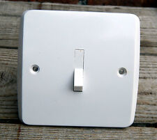 Vintage Mid Century Tenby Ivorine Bakelite Light Switch England 5amp 2 Way #C